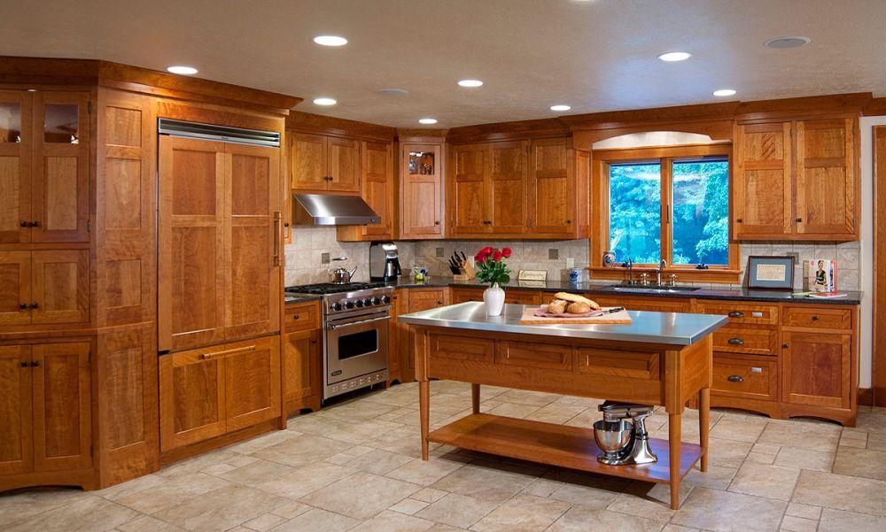 Mullet cabinet arts crafts kitchen for Arts and crafts kitchen designs