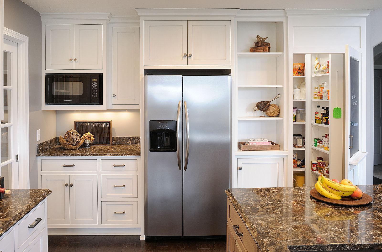 mullet cabinet u2014 vintage finish kitchen