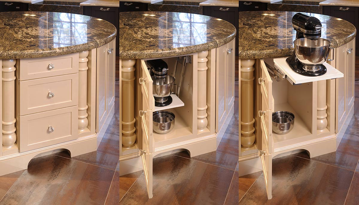 Mullet Cabinet Elegant Kitchen With Dual Round Islands