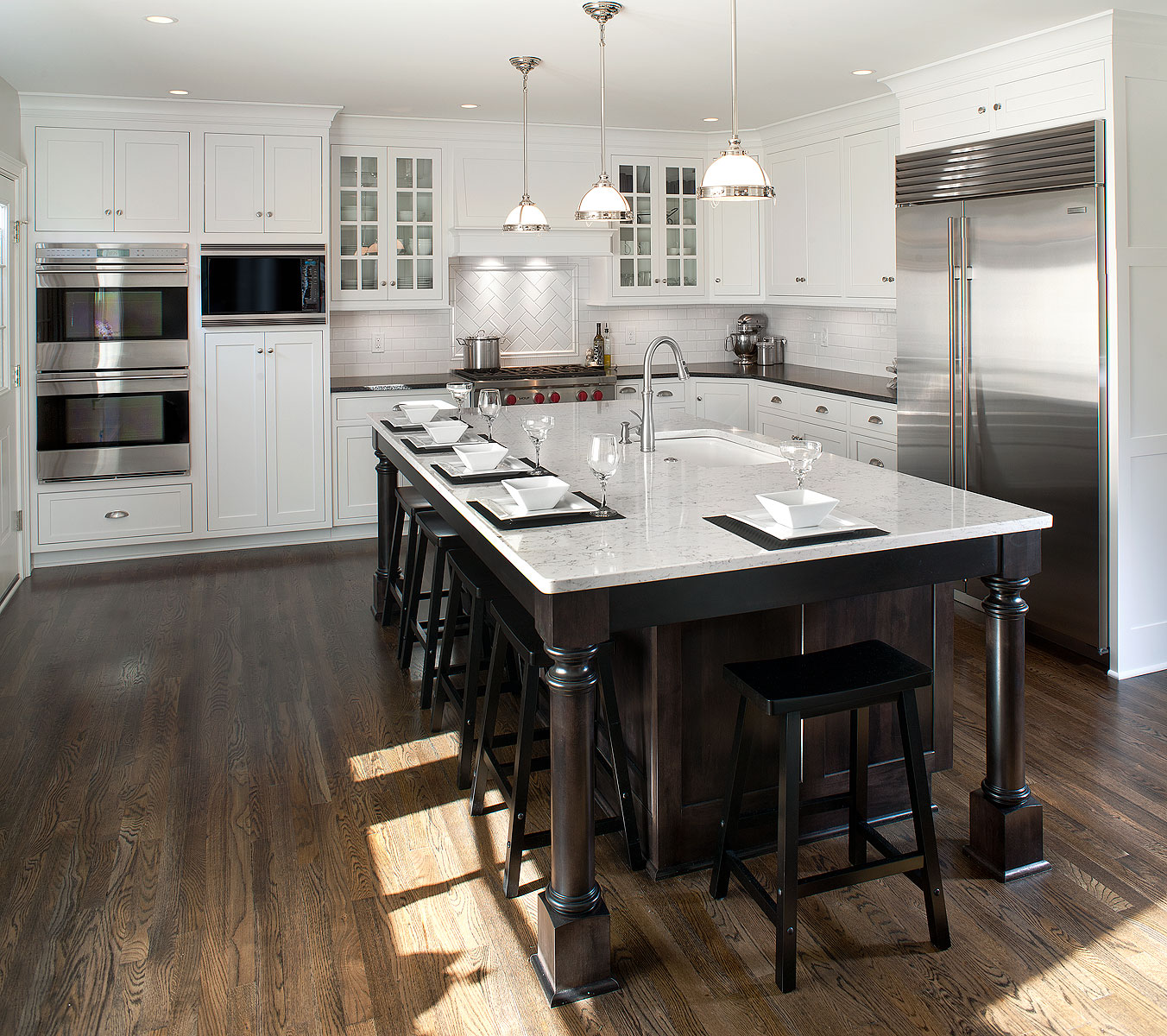 Transitional Kitchens With White Cabinets