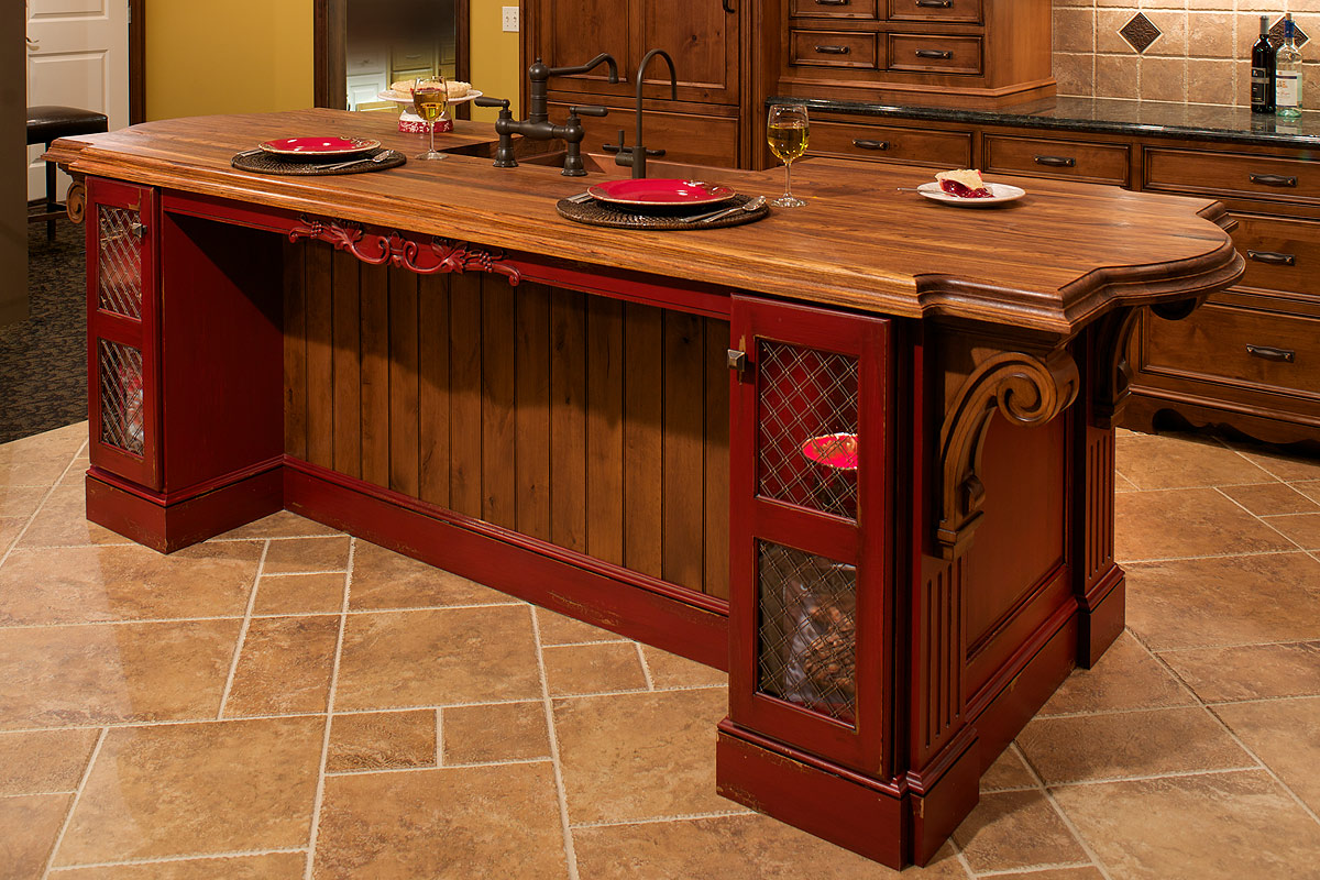 Amish Kitchen Cabinets Indiana Mullet Cabinet Tuscan Inspired Kitchen