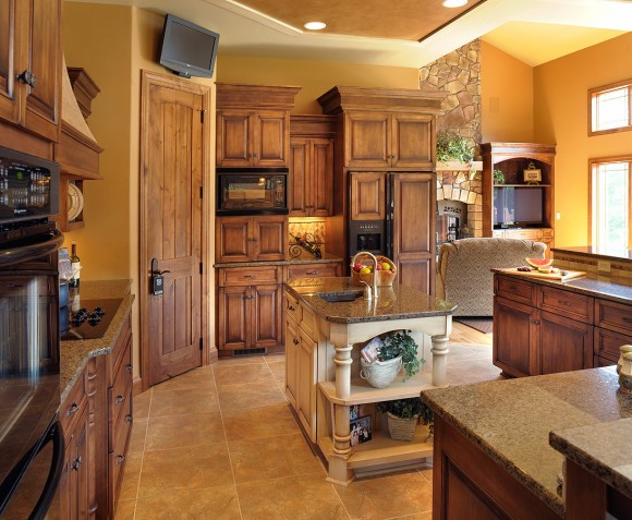 Levant a traditional kitchen which meets the needs of a for Amish made kitchen cabinets ohio