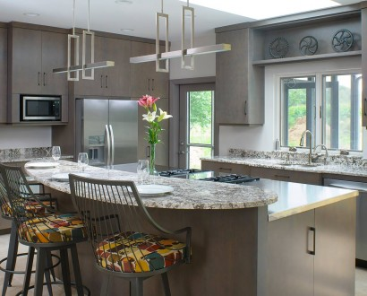 contemporary kitchen with stainless and granite countertops - Kitchen Cabinet Com