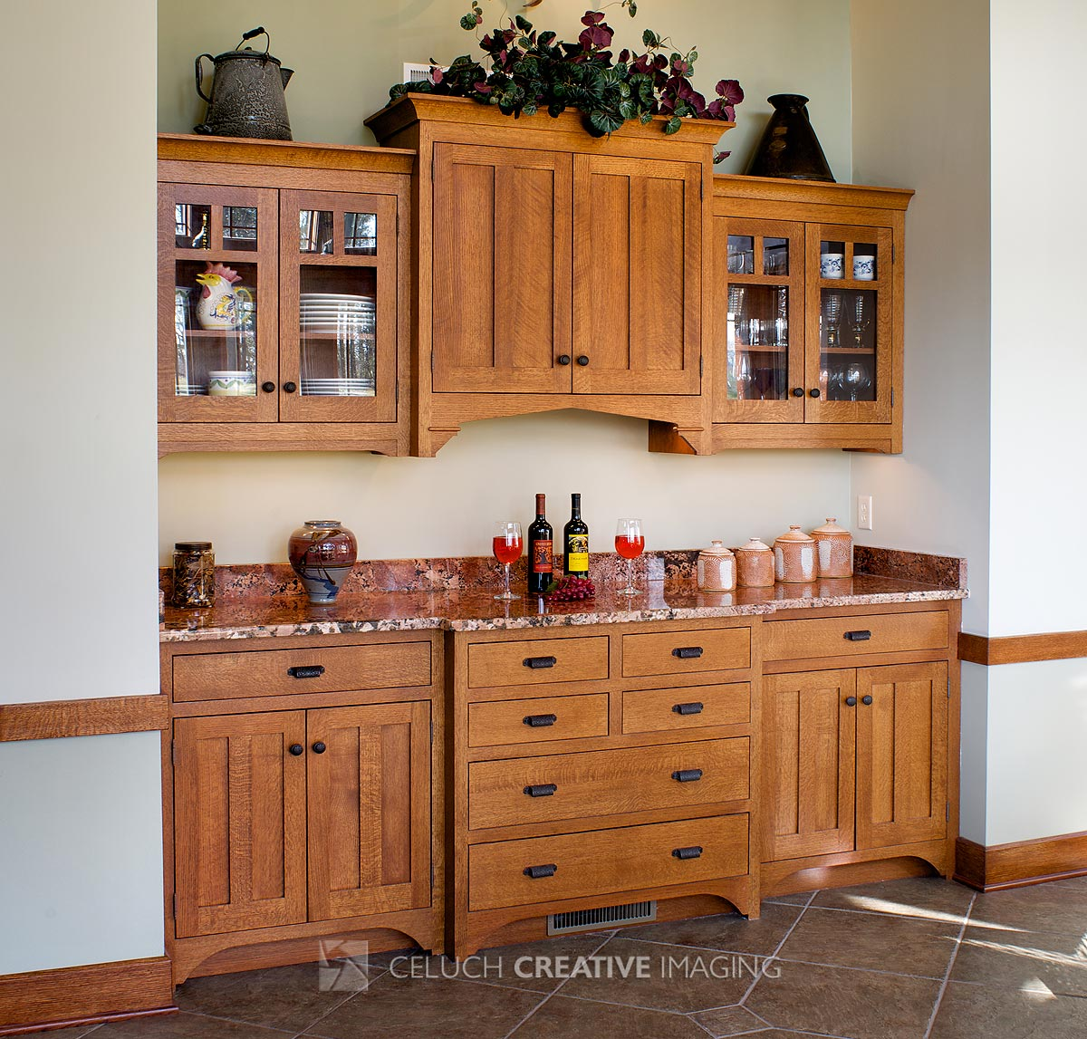 Mullet cabinet arts crafts dining room for Built in kitchen cupboards for a small kitchen