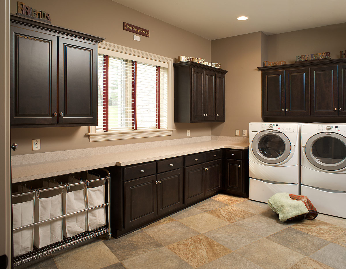 Mullet cabinet large laundry room for Laundry room cabinets ideas