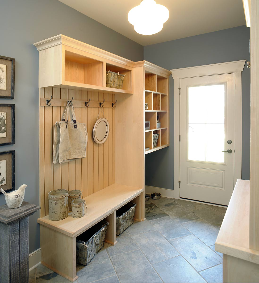 Laundry Room With Dog Kennel