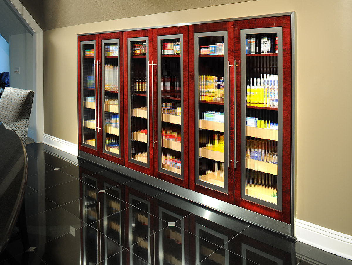 Mullet Cabinet — Contemporary Tiger Maple Kitchen