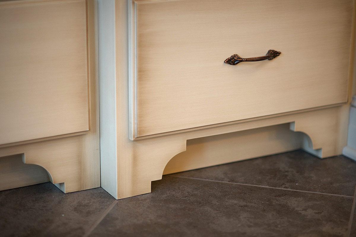 Mullet cabinet cozy master bath - Kitchen cabinet feet ...