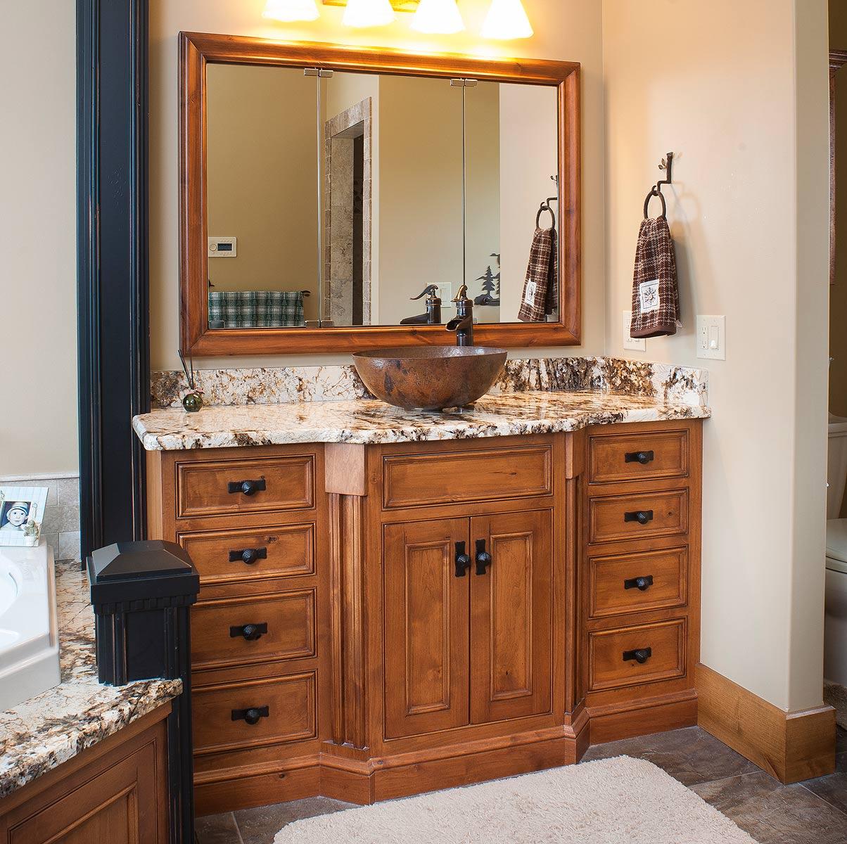 Dark Knotty Alder Kitchen Cabinets: Knotty Alder Master Bath