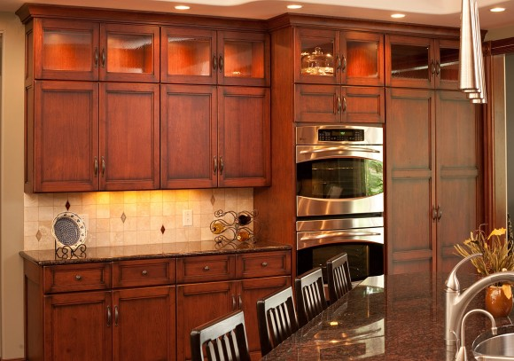 pictures of small kitchens with islands mullet cabinet traditional birch kitchen 9132