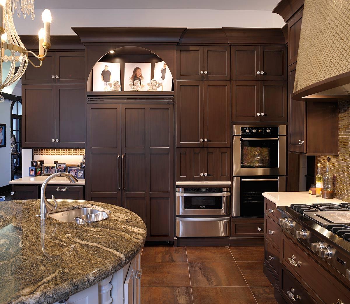 Elegant Kitchen With Dual Round Islands